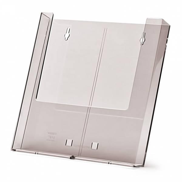 Stojánek na letáky formátu A4, pro přidělání na zeď, nebo s podpěrou
