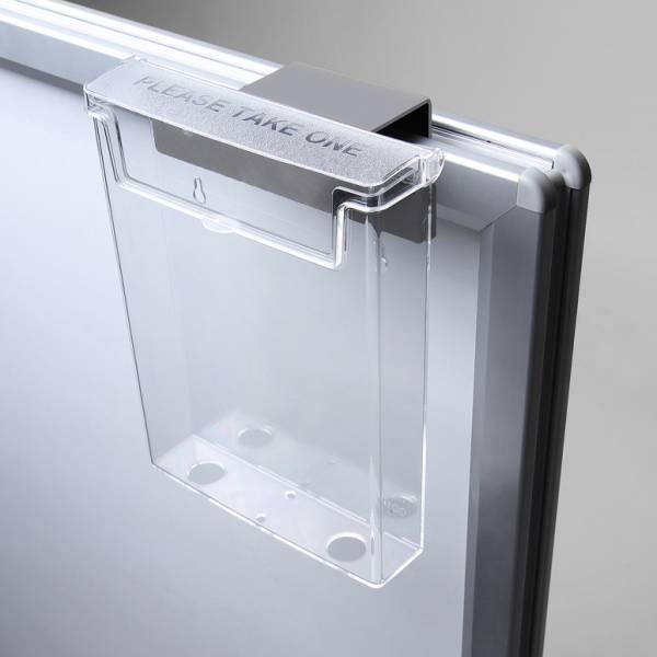 Venkovní zásobník na letáky pro Windtalker s plnitelnou plastovou základnou a klaprámem