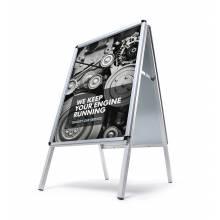 Reklamní áčko A1, oblý roh, profil 32mm, metalová záda, zvýšená odolnost proti vlivům počasí