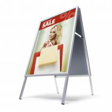 Interiérové reklamní áčko A1, ostrý roh, profil 25mm