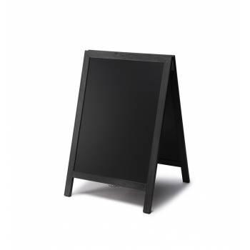 Dřevěné áčko s křídovou tabulí 55x85, černá