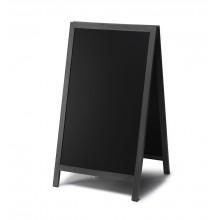 Dřevěné áčko s křídovou tabulí 68x120, černá