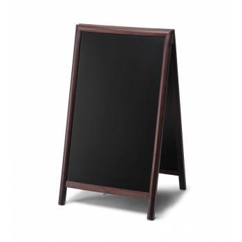Dřevěné áčko s křídovou tabulí 68x120, tmavě hnědá