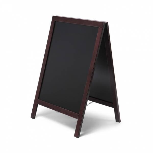 Reklamní dřevěné áčko s křídovou tabulí 55x85, tmavě hnědá