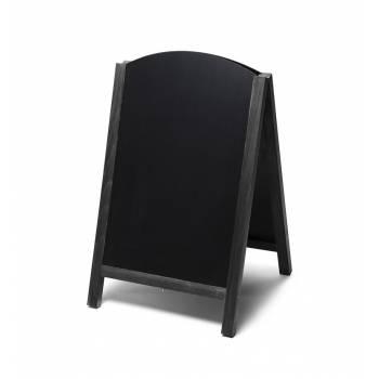 Dřevěné áčko s vysouvací tabulí 55x85, černá