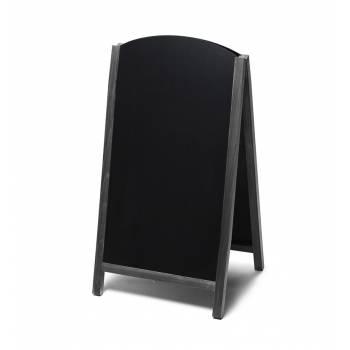Dřevěné áčko s vysouvací tabulí 68x120, černá