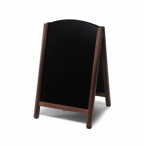Dřevěné áčko s vysouvací tabulí 55x85, tmavě hnědá