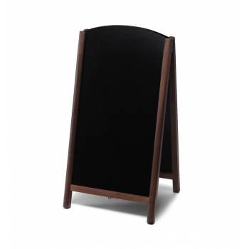 Dřevěné áčko s vysouvací tabulí 68x120, tmavě hnědá
