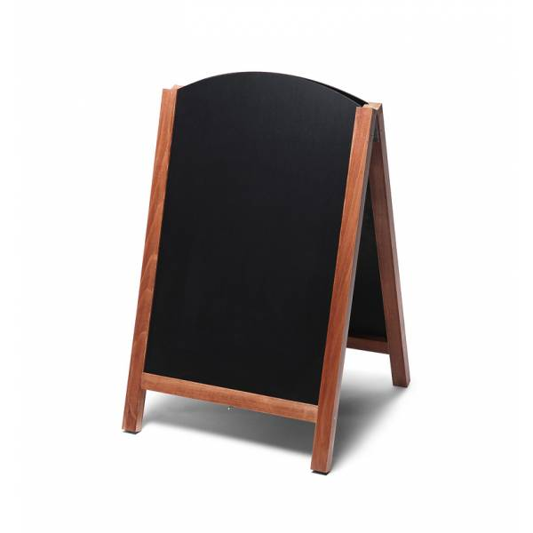Dřevěné áčko s vysouvací tabulí 55x85, světle hnědá