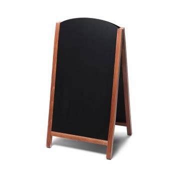 Dřevěné áčko s vysouvací tabulí 68x120, světle hnědá
