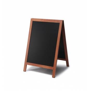 Dřevěné áčko s křídovou tabulí 55x85, světle hnědá