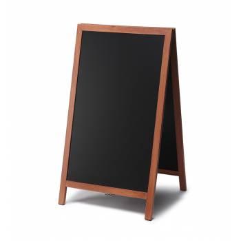 Dřevěné áčko s křídovou tabulí 68x120, světle hnědá