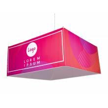 Zip-up Square závěsný látkový banner obdélníkový