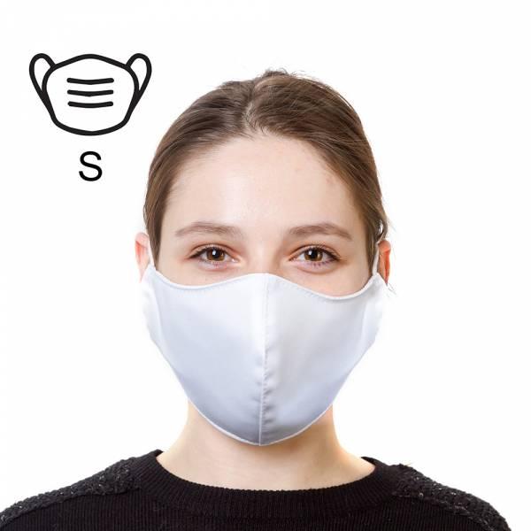 Bavlněná ochranná maska - S, bílá