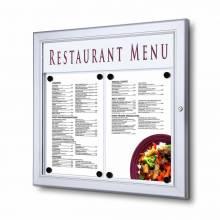 Venkovní uzamykatelná menu vitrína